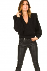 IRO |  Sweater with shoulder pads Misty | black  | Picture 2