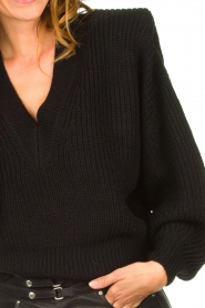 IRO |  Sweater with shoulder pads Misty | black  | Picture 7
