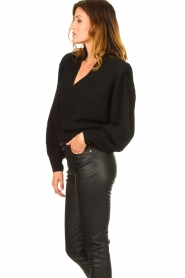 IRO |  Sweater with shoulder pads Misty | black  | Picture 6