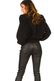 IRO    Sweater with shoulder pads Misty   black    Picture 8