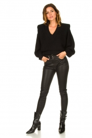 IRO    Sweater with shoulder pads Misty   black    Picture 3