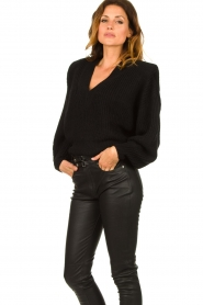 IRO |  Sweater with shoulder pads Misty | black  | Picture 4