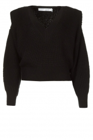IRO |  Sweater with shoulder pads Misty | black  | Picture 1