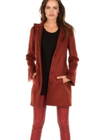 Coat Florence | red brown