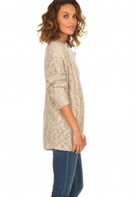 Knit-ted |  Cardigan Abigail | brown  | Picture 4