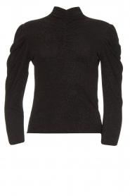 IRO |  Turtleneck top with lurex Livanda | black  | Picture 1