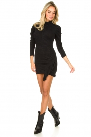 IRO |  Turtleneck top with lurex Livanda | black  | Picture 3
