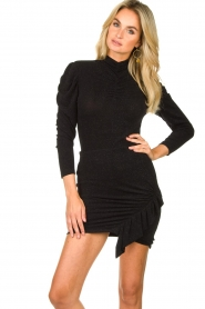 IRO |  Turtleneck top with lurex Livanda | black  | Picture 2