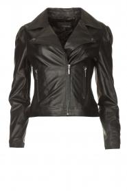 STUDIO AR |  Leather biker jacket Maxime | black  | Picture 1
