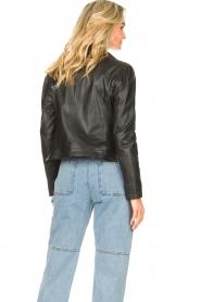 STUDIO AR |  Leather biker jacket Maxime | black  | Picture 6