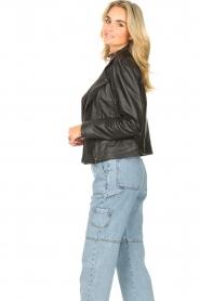 STUDIO AR |  Leather biker jacket Maxime | black  | Picture 5