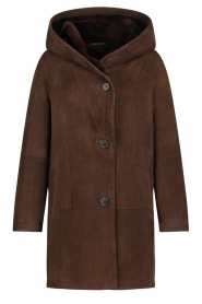STUDIO AR |  Lammy coat Babina | brown  | Picture 1