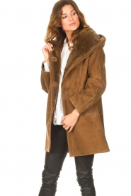 STUDIO AR |  Lammy coat Babina | brown  | Picture 4