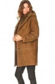 STUDIO AR |  Lammy coat Babina | brown  | Picture 5