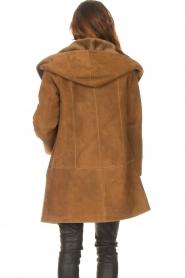 STUDIO AR |  Lammy coat Babina | brown  | Picture 6