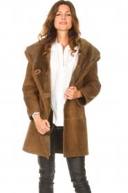STUDIO AR |  Lammy coat Babina | brown  | Picture 2