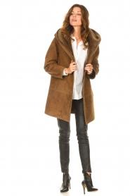 STUDIO AR |  Lammy coat Babina | brown  | Picture 3