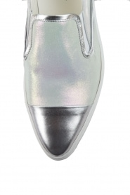 Leather Slip-on Georgie | silver