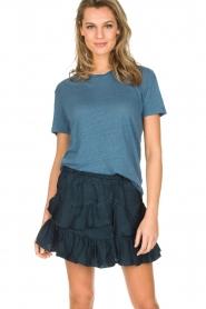 IRO | 100% zijden rok Faklie | donkerblauw  | Afbeelding 2