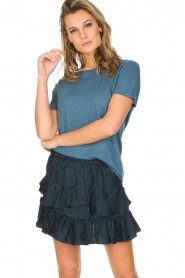 IRO | 100% zijden rok Faklie | donkerblauw  | Afbeelding 4