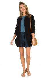 IRO | 100% zijden rok Faklie | donkerblauw  | Afbeelding 3