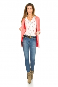 Knit-ted |  Cardigan with blazer details Sammie | pink  | Picture 3