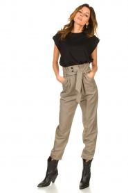 IRO |  Paperbag pants Alper | beige  | Picture 4
