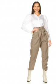 IRO |  Paperbag pants Alper | beige  | Picture 2