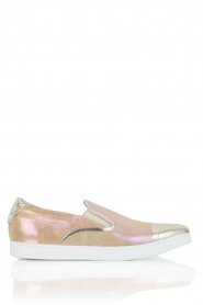 Leren Slip-on Georgie | goud