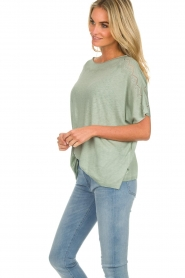 Knit-ted |  Top Lisa | green  | Picture 5