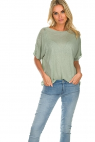 Knit-ted |  Top Lisa | green  | Picture 4