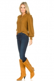 Sofie Schnoor |  High boots with studs Chrystal | camel  | Picture 2