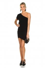 IRO | Asymmetrische jurk Davovo | zwart  | Afbeelding 3