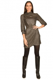 IRO |  Metallic dress Rasile | black  | Picture 3