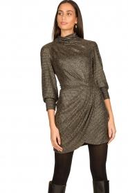 IRO |  Metallic dress Rasile | black  | Picture 4