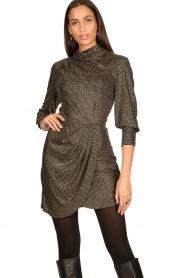 IRO |  Metallic dress Rasile | black  | Picture 2