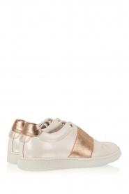 SVNTY | Leren schoen Valentina | parelwit en goud   | Afbeelding 4