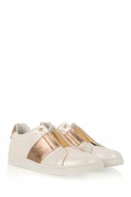 SVNTY | Leren schoen Valentina | parelwit en goud   | Afbeelding 3