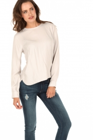 Knit-ted | Top Paula | wit  | Afbeelding 2