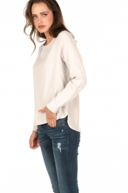 Knit-ted | Top Paula | wit  | Afbeelding 4