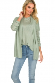Knit-ted |  Cardigan Liv | green  | Picture 4