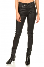 IRO |  Lamb leather pants Forn | black  | Picture 5