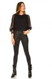 IRO |  Lamb leather pants Forn | black  | Picture 3
