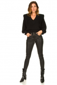 IRO |  Lamb leather pants Forn | black  | Picture 2