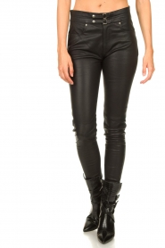 IRO |  Lamb leather pants Forn | black  | Picture 4