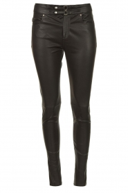 IRO |  Lamb leather pants Forn | black  | Picture 1
