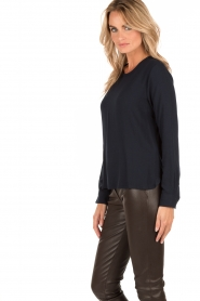 Knit-ted   Top Paula   donkerblauw    Afbeelding 4