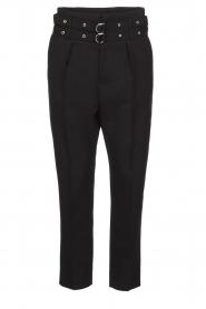 IRO | Pantalon met twee riemen Lana | zwart  | Afbeelding 1