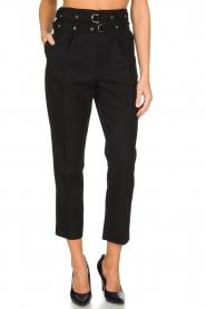 IRO | Pantalon met twee riemen Lana | zwart  | Afbeelding 2