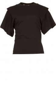 IRO | T-shirt with shoulder details Belly | black  | Picture 1